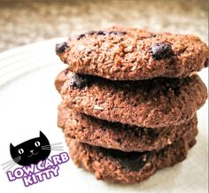 Low Carb Double Chocolate Chip Cookies Recipe - Low Carb Kitty!