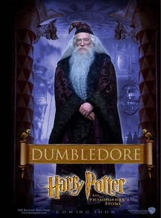"DUMBLEDORE (played by Richard Harris) in ""Harry Potter & The Sorcerer's Stone"" and ""Harry Potter & The Chamber of Secrets"""