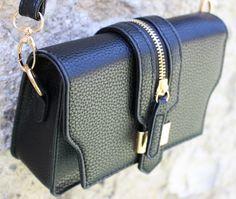 borsa piccola nera e oro