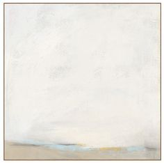 This soft and simple painting is soothing and neutral. It is an abstract tranquil landscape and it's extra large size will undoubtedly set the tone for a calming mood in any room. This canvas reproduc