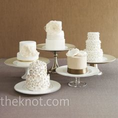 One cake per table | 40 alternative wedding cake ideas | Estate Weddings and Events