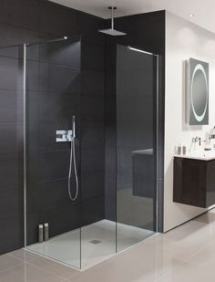 39 Creative Small Bathroom Glass Shower Design Ideas That Will Make More Enjoyable When Take Bath - Nowadays the life is running faster than ever, when everybody are in hurry to complete their daily duties. After a hard day at work you certainly are . Bathroom Shower Panels, Small Bathroom With Shower, Shower Screen, Glass Shower, Bathroom Showers, Frameless Shower, Shower Door, Small Bathrooms, Master Bathroom