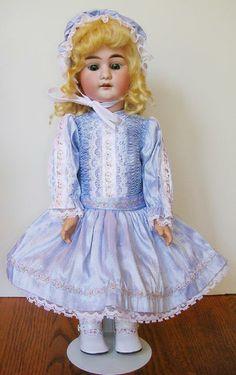 Smocked silk dress from Diane's Doll Hospital