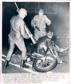Laconia Bike Week Riot,  19 June 1965 Laconia Bike Week, Powered Bicycle, Motorcycle Events, Gas Service, Biker Clubs, Stuff And Thangs, In This Moment, Feelings, History