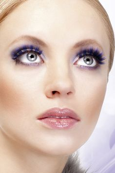 Baci Eyelashes  Magic Colors Black-Purple Deluxe Eyelashes