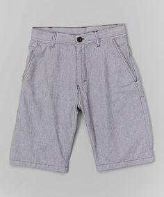 Love this Gray & Black Shorts - Boys by American Hawk on #zulily! #zulilyfinds