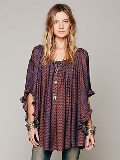 Free People Silk Print Doily Dress, $285.00 love!