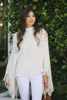 Shop the Brigette Fringe Shawl - boutique clothing featuring fresh, feminine and affordable styles. Getting Cozy, Distressed Skinny Jeans, Vintage Hippie, Affordable Fashion, Boutique Clothing, Girls Night Out, Shawl, Ruffle Blouse, Feminine