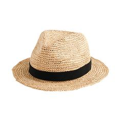 Packable straw hat, $49.50, at area J.Crew stores; jcrew.com.