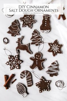 DIY Cinnamon Salt Dough Ornaments DIY Cinnamon Salt Dough Ornaments Giustina Domestically Blissful blissfulmiller Domestically Blissful These DIY Cinnamon Salt Dough Ornaments are a beautiful nbsp hellip dough cinnamon ornaments Salt Dough Christmas Ornaments, Cinnamon Ornaments, Gingerbread Ornaments, Gingerbread Decorations, Homemade Ornaments, Handmade Christmas Decorations, Homemade Christmas, Diy Christmas Gifts, Diy Ornaments
