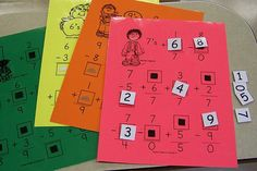 Math Missing Number Cards - great for a math center