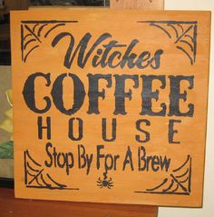 Witches Coffee house........handmade wall by hilltopprims on Etsy
