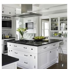 """""""Love this beautifully designed kitchen! Pretty and functional! Credit to @betterhomesandgardens"""""""