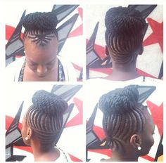 Cornrows and braided bun ~ Protective styles for natural hair