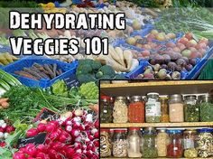Dehydrating Veggies 101. Dehydrate your vegetables and take them with you in jars or baggies.