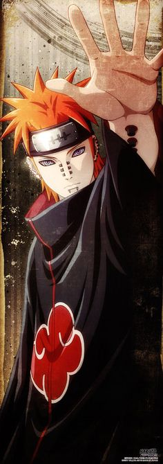 Naruto Shippuden AKATSUKI YAHIKO PAIN poster portrait anime Official Japan