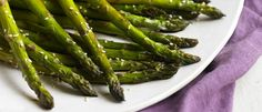 Sesame Roasted Asparagus - Per serving: 66 calories, 4 g protein, 7 g carbohydrates (3 g sugar), 3 g fat, trace saturated fat, 0 mg cholesterol, 4 g fiber, 121 mg sodium