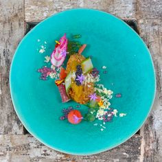 Sea Urchin Korokke, Watermelon, Iberico Ham, Parmesan, Grapefruit Pearls, Radish, Cucumber Pearls, Caviar