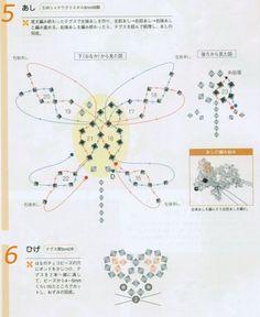 схема плетения мышки из кристаллов