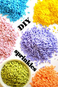 Make your own sprinkles in any color you like!