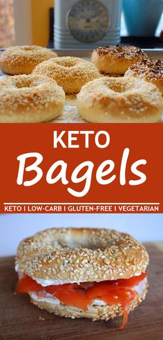 Keto Bagels are a very popular breakfast or lunchtime option that are ready to grab and go. If you want keto bagels or gluten-free bagels that taste great youre going to love these. Keto Bagels are a very popular breakfast or. Keto Bagels, Bagels Sans Gluten, Best Keto Breakfast, Breakfast Recipes, Breakfast Ideas, Breakfast Gravy, Breakfast Hash, Breakfast Casserole, Breakfast Biscuits
