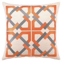 I pinned this Trina Turk Geometric Tile Pillow in Orange from the Greek Key event at Joss and Main!