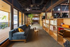 Office Interior Design, Office Interiors, Cafe Design, House Design, Japanese Interior, Japanese House, Cabin Homes, Cool Rooms, House Rooms