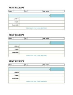 Basic Rent Receipt Book Style  Rent Receipt Template