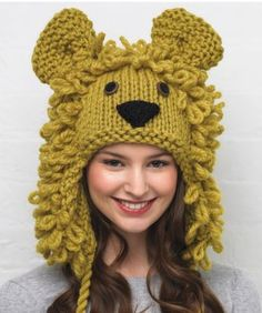 Knitting Patterns Hats Animals : 1000+ images about Knitting (HATS) on Pinterest Baby hats, Hats and Ra...