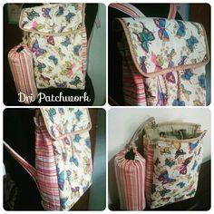 Aproveitando o feriado para costurar!  Um mimo essa mochila feita para uma garota de 3 anos. 🎒🎒🌸🌸💝💝 #dripatchwork #patchwork