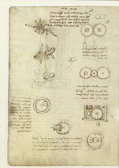 Leonardo da Vinci inventions: Kinematic Models (from Codex Madrid I : The Madrid Codices: National Library Madrid, Lib. # 8937)
