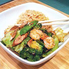 Skinny Shrimp Stir Fry
