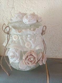 Deko-Objekte - Windlicht - altes Weckglas im Shabby-Look - ein Designerstück von Tierfreundin-Renate bei DaWanda