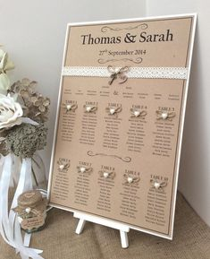 Rustic/Shabby Chic A3 Wedding Table Seating Plan in Home, Furniture & DIY, Wedding Supplies, Other Wedding Supplies | eBay!