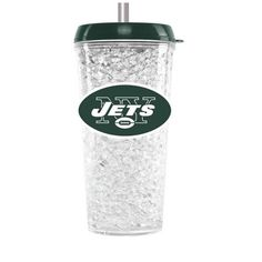 Duckhouse NFL New York Jets Crystal Freezer Straw Tumbler With Lid