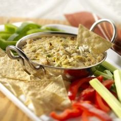 Hot Louisiana Blue Crab Dip  Served straight from the oven, this tasty crab dip is a definite crowd-pleaser.