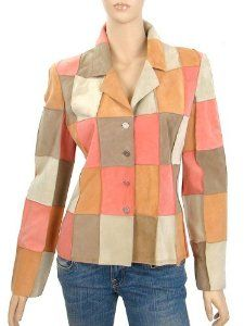 Chanel Jacket - Pink, Peach and Beige Patchwork Suede Jacket Fr40 MINT   Your-Online-Fashion.com