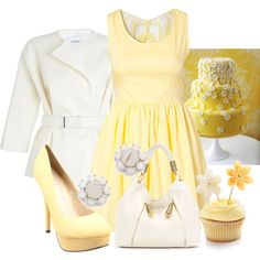 """""""Yellow Cake with Buttercream"""" by mhuffman1282 on Polyvore"""