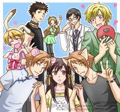 Ouran High School Host Club cosplay as Fruits Basket. Basically the same show! Ouran Host Club, Ouran Highschool Host Club, High School Host Club, Fruits Basket Cosplay, Fruits Basket Anime, Otaku, Anime Kiss, Manga Anime, Anime Art