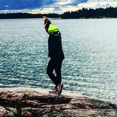 Cool yellow hood on this sailing jacket makes it so visible from across the coast line!  Photo form @ johannavaris Instagram