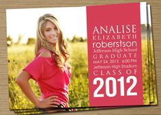 Graduation Announcement: PRINTABLE (2012  Graduation Announcement). $15.00, via Etsy.