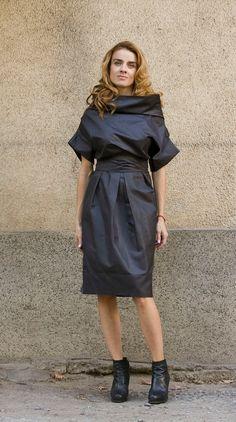 Cocktail Dress Holiday Dress Short Black Dress by DessieJeSuis