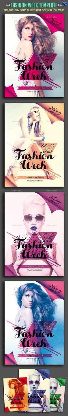 Fashion Week Party Flyer Template PSD #design Download: http://graphicriver.net/item/fashion-week-party-flyer-/14481618?ref=ksioks