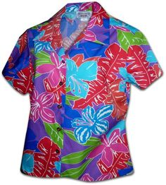 Valley Hibiscus Hawaiian Shirts  Womens Hawaiian Shirts  Aloha Shirt  Hawaiian Clothing  100 Cotton Purple 2XL * Check out the image by visiting the link.