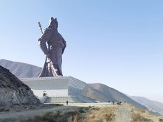 Landscapes Altered by the Worlds Largest Statues Guan Yu, Yuncheng, China, 262 ft, built in 2010 Guan Yu, Ryu Street Fighter, Statues, Worlds Largest Dog, Liu Bei, Christ The King, Colossal Art, French Photographers, Contemporary Photography