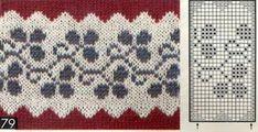 Fair Isle Knitting Patterns, Knitting Charts, Knitting Stitches, Knit Patterns, Stitch Patterns, Baby Hats Knitting, Knitting Socks, Knit Or Crochet, Filet Crochet
