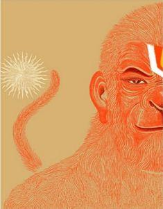 Hanuman Chalisa, Krishna, Hindus, Indian Gods, Indian Art, Angel Sketch, Lord Hanuman Wallpapers, Hanuman Images, Shiva Shakti