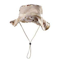Outdoor Mesh Sunshade Fisherman Fishing Hat Sun Cap Bucket String Wide Brim  for Men fcabc065e2cc