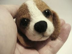 Felted Dog Wool art Felted Wooly Dog Ball Needle от feltstories