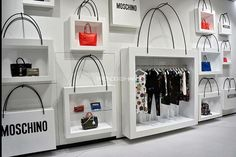 "MOSCHINO, via Sant'Andrea 25, Milan, Italy, ""Dream Big, It's not just a bag.... It's Moschino"", pinned by Ton van der Veer"